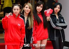 2NE1 at Renewal Open Event for the 1st Adidas Store in Myeongdong