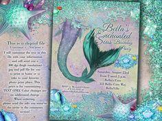Mermaid Invitations Mermaid Party Mermaid Pool by BellaLuElla, $13.00