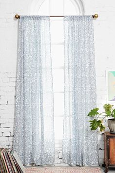Plum & Bow Paisley Outline Curtain $39-$49 Urban Outfitters ( ♡ This #Paisley Print)
