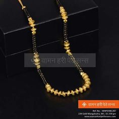 Mangalsutra Simple, Gold Mangalsutra, Gold Jewellery Design, Gold Jewelry, Beaded Jewelry, Maharashtrian Jewellery, India Jewelry, Simple Jewelry, Jewelry Patterns