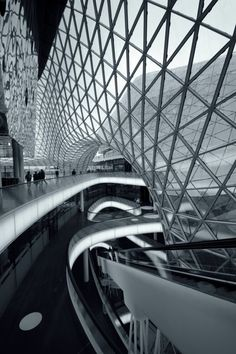 """""""MyZeil"""" Shopping Ma #Architectural #design in black and white"""