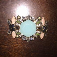 JCrew Turquoise Jeweled Bracelet This JCrew Turquoise Jeweled Bracelet is a Statement Piece for sure. J. Crew Jewelry Bracelets
