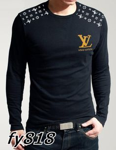 Louis Vuitton long-sleeve men - Click Image to Close Louis Vuitton Mens Shirts, Louis Vuitton Sweater, Louis Vuitton Clothing, Fashion Moda, Mens Fashion, Casual Outfits, Men Casual, Gentleman Style, Swagg