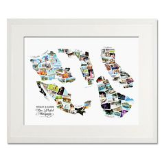 Collection of Countries Wedding, Honeymoon or Anniversary Collage