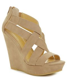 Chinese Laundry Major Crush Wedge Sandals - All Women's Shoes - Shoes - Macy's Wedge Sandals, Wedge Shoes, Shoes Sandals, Cute Shoes, Me Too Shoes, Rush Outfits, Nude Wedges, Brown Wedges, Chinese Laundry Shoes