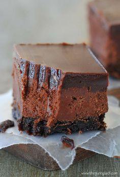Chocolate Truffle Fudge Bars