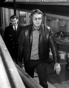 Steve McQueen at airport