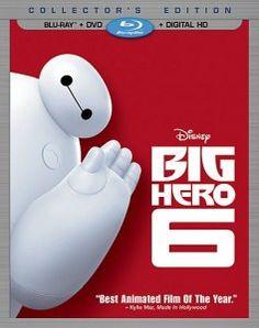 Pre order Disneys Big Hero 6 (Blu ray, DVD, & Digital HD) for $18.90, DVD for $17.98! Pre order Guarantee!