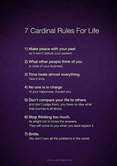 Cardinal Rules For Life #lifecoachperth #mastercoach #NLP