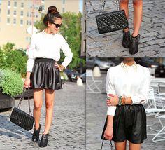 BLACK & WHITE (by Leah  Ho) http://lookbook.nu/look/3852060-BLACK-WHITE