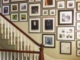 Organized stairwall art.