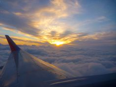 Sunset at 10,000 feet on climb out of Tampa, Florida
