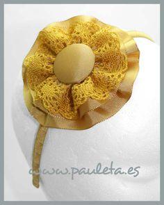 Diademas, diademas para niñas, diademas para el pelo, en tonos dorados, disponibles en nuestra pagina www.pauleta.es