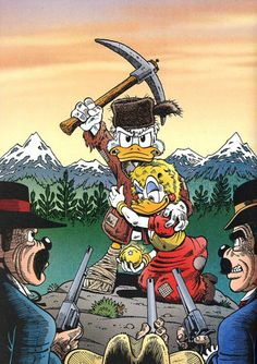 Scrooge and Goldie by Don Rosa Walt Disney Co, Disney Cartoon Characters, Disney Duck, Disney Cartoons, Disney Magic, Disney Art, Cartoon Shows, Cartoon Art, Comic Books Art