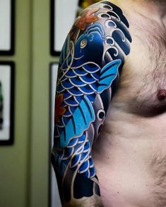 Today, millions of people have tattoos. From different cultures to pop culture enthusiasts, many people have one or several tattoos on their bodies. While a lot of other people have shunned tattoos… Japanese Koi Fish Tattoo, Japanese Tattoos For Men, Traditional Japanese Tattoos, Japanese Tattoo Designs, Japanese Sleeve Tattoos, Traditional Sleeve, Chinese Tattoos, Koi Tattoo Sleeve, Full Sleeve Tattoos