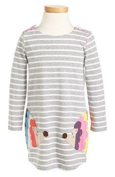 Mini Boden 'Stripy Appliqué' Dress (Toddler Girls, Little Girls & Big Girls) available at #Nordstrom