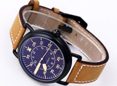 Men's Luxury Stainless Steel Automatic Brown Leather Strap Bell BR See Through Skeleton MILITARY VINTAGE HERITAGE Watch