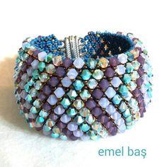 Capricho bracelet with Swarovski crystals by Emel Bas from Turkey