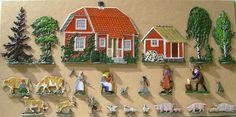 Figure 9. Swedish farm, 40-mm flats, drawing John Sjösvärd, engraver anonymous. Photo courtesy Hans G. Hagström.