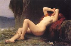 Jules Joseph Lefebvre (Tournan 1836 - Paris 1911) Mary Magdalene. 1876, Oil on canvas, Current location: Hermitage