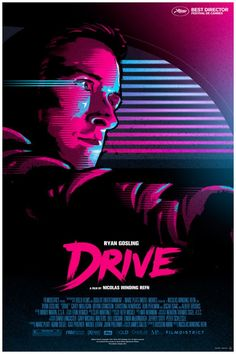 Drive 80's poster by James White from Signalnoise studio