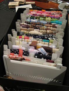 Organización de cintas - ribbon organization