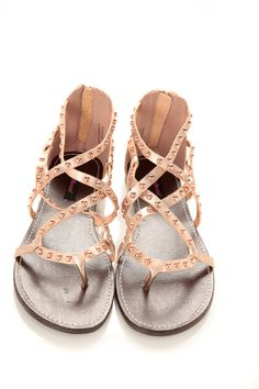 02a613733d27b8 Gladiator Studded Strappy Flat Sandals   Cicihot Sandals Shoes online store  sale Sandals