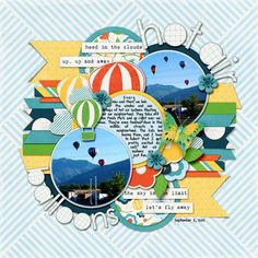 Hot Air Balloons by ltarbox - Cards and Paper Crafts at Splitcoaststampers