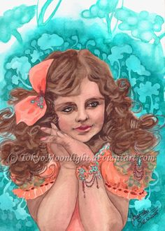 """Smile"" by TokyoMoonlight (Marcela),  watercolor. DEVIANTART: http://tokyomoonlight.deviantart.com/ TUMBLR: http://tokyomoonlightart.tumblr.com/ #watercolor #painting #art"