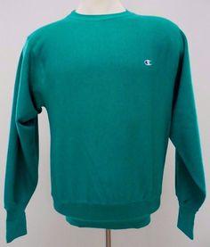 Vintage Champion Reverse Weave Sweatshirt M Mens Medium Crewneck USA Green Size* #Champion #SweatshirtCrew