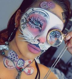 White Rabbit (Alice in Wonderland) Halloween Makeup Look