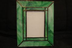 Beautiful jade/turqoise colored stained glass by KTGlassDesigns, $45.00