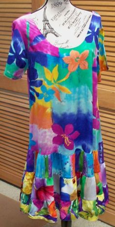 WOMANS SUMMER DRESS BY JAMS WORLD- FLORAL PRINT-SIZE LARGE in Dresses | eBay