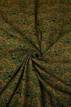 Ajrak Fabric - Buy Ajrak Print Fabrics Online - Matkatus – matkatus Cotton Silk Fabric, Colorful Wallpaper, Big Star, Fabric Online, Small Flowers, Print Fabrics, Prints, Leaf Design, Indian Dresses