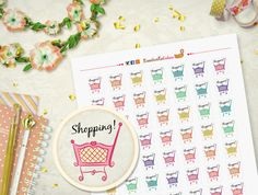 Hey, I found this really awesome Etsy listing at https://www.etsy.com/listing/285766091/shopping-time-printabl-stickers-for-your