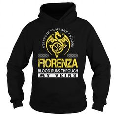 Awesome Tee FIORENZA Blood Runs Through My Veins (Dragon) - Last Name, Surname T-Shirt T shirts