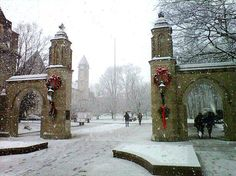 Atleast I can see this in the winter from a picture. Because I'd slip 50 times in ice before making it to this spot Indianapolis Skyline, Indianapolis Indiana, Indiana University, Indiana State, Iu Hoosiers, Gate Design, Beautiful Architecture, Life Is Beautiful, Winter Wonderland