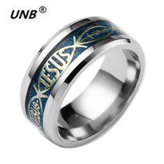 Stainless Steel Jesus Ring