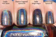 More Nail Polish: Dance Legend - Holographics - Android, Robots vs Humans & Spacecraft.