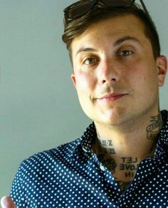 frank iero, the only person next tattoos look good on!