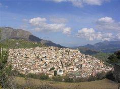 Ciminna vista dal Ristorante San Vito.  My mom's home town.