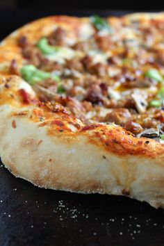 Spicy Sausage Pizza! For all of your pizza, pasta, salad, pita, sub cravings visit Stosh's Pizza in Center Line, MI! Give us a call at (586) 757-6836 to place your order or visit our website www.stoshspizza.com for more information!
