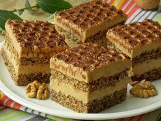 Orzechowe ciasto jest lekkie niczym biszkopt, z tą tylko różnicą, że upieczone na białkach :) Jest to sposób na ich wykorzystanie, jeśli ktoś nie przepada za bezami. Orzechowca przełożyłam gotowany… Polish Desserts, Polish Recipes, No Bake Desserts, Delicious Desserts, Cake Cookies, Cupcake Cakes, Sweet Recipes, Cake Recipes, Layered Desserts