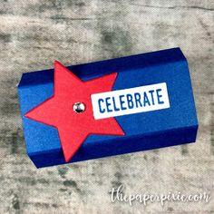 Hershey's Miniatures Treat Holder - The Paper Pixie Hershey Candy, Hershey Bar, Treat Holder, Treat Box, Graduation Treats, Hershey Miniatures, Stampin Up Paper Pumpkin, School Treats, Gifts For Office