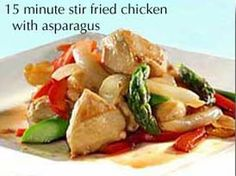 Cathe Friedrich - 15-Minute Healthy Sautéed Chicken & Asparagus