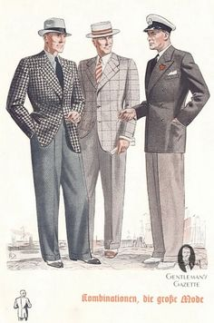 Fashion Clothe, S Mens Casual Fashion Mens Summer Fashion How To Dress In The Thirties Forties Photos: Mens Casual Fashion 1940s Mens Fashion, 40s Fashion, Fashion History, Look Fashion, Vintage Fashion, Fashion Design, Male Fashion, Fashion Photo, Suit Fashion