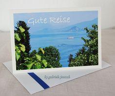 """Grüße - Grußkarte """"Gute Reise"""" - ein Designerstück von Gabriele-Jentsch bei DaWanda"""