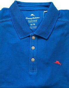 e2ae6747 My Tommy Bahama Blue Emfielder Logo Sports Polo Shirt Size XL Cobalt  Santorini by Tommy Bahama