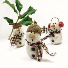 Items similar to Ceramic Snowman Ornament / ONE Handmade Pottery Whimsical Gifts Under Christmas Tree Holiday Decor, Snowman Collector on Etsy Christmas Tree Decorations, Christmas Crafts, Christmas Ornaments, Christmas Clay, Snowman Ornaments, Handmade Ornaments, Snowmen, Acorn Crafts, Custom Charms