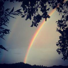geluk: symbool regenboog
